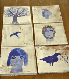 Claire Loder // paint on tiles.