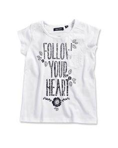 Follow your heart - T-shirt - wit - mini - fourseasonsshop.nl - Four Seasons Shop