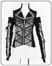 Unisex Kera Shop Cosplay Gothic Visual Punk Zipper Shirt+arm warmer Silve S~L