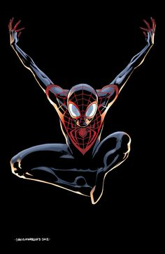 Ultimate Spider-Man Pinup (Color) by davidmarquez.deviantart.com    Cory Smith SDCC Artists' Alley: HH-22