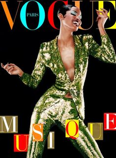 Naomi Campbell on the cover of Vogue Paris. Photo: Jean Baptiste Mondino.