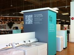 Sears adopts QR codes in new store. Every price tag has QR codes.