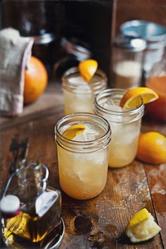 Summery drink in a jam jar