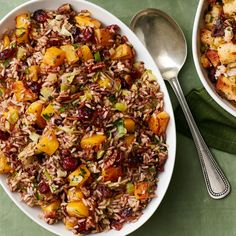Find perfect Thanksgiving turkey stuffing recipes from Food Network, like the Barefoot Contessa& Sausage and Herb Stuffing. Turkey Stuffing Recipes, Rice Stuffing, Herb Stuffing, Thanksgiving Stuffing, Thanksgiving Recipes, Thanksgiving 2016, Rice Recipes, Casserole Recipes, Recipies