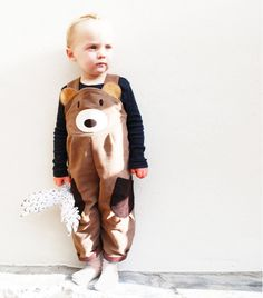 Toddler Boys Bear Dungaree Overalls by wildthingsdresses on Etsy, $60.00