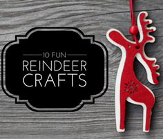 10 Fun Reindeer Crafts to Make for Christmas  by Karen Ballum