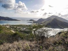 View of Christophe Harbour, St Kitts from volcano peaks. Windward Islands, Caribbean Culture, West Indian, Archipelago, Volcano, St Kitts And Nevis, That Way, Saints, Hiking