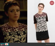 April's floral colorblock dress on Chasing Life.  Outfit Details: http://wornontv.net/46659/ #ChasingLife
