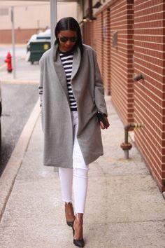 DIY Oversized Grey Coat - Beaute Jadore