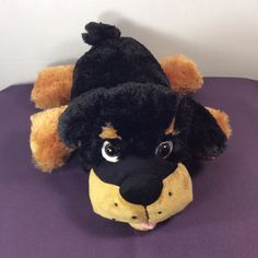 "2015 Kellytoy Plush Rottweiler Black&Brown PUPPY DOG Stuffed Animal 13""…"