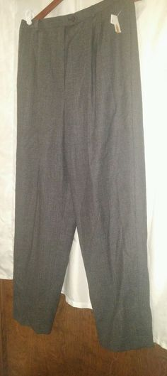 Women's AUTHENTIC NWT TALBOTS pleated dress PANTS SIZE 16. Wool. Grey plaid  #Talbots #DressPants