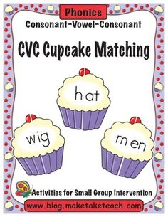 Fun little FREEBIE for practicing CVC words and word families.  Great center activity!