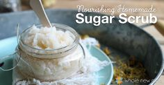 This Homemade Sugar Scrub is the perfect addition to your natural beauty routine. No chemical additives and it saves money over store scrubs.