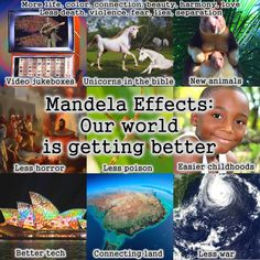 New Golden Age - Mandela Effect: Our world is getting better Unicorns In The Bible, New Mandela Effect, What Is Change, Spanish Inquisition, Bible News, New Earth, Nature Study