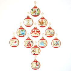 12 Days Baubles by Kirk & Bradley - showstopper needlepoint kits Needlepoint Stitches, Needlepoint Kits, Needlepoint Canvases, Needlework, Cross Stitching, Cross Stitch Embroidery, Hand Embroidery, 12 Days Of Christmas, Christmas Cross