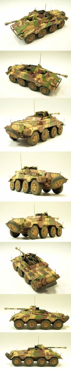 Sd. Kfz. 234/4 Panzerspahwagen 1/35 Scale Model