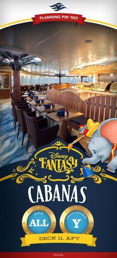 Disney Cruise Line Planning Pins   Disney Fantasy: Cabanas