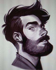 "23.3 mil curtidas, 200 comentários - Rebecca Ninig (@ni_nig) no Instagram: ""Today is the day I decided to draw random bearded guys"""