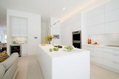 Here we have a B-E-A-U-T-I-F-U-L CAMEO KITCHEN , with a very sleek white modern design! How stunning who wouldn't love that as their kitchen? Keep following us we are always posting new and improved high end kitchens as well as cabinetry! Stay Tunned! High End Kitchens, Modern Design, Phone, Home Decor, Telephone, Decoration Home, Room Decor, Contemporary Design, Home Interior Design