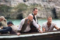 Black Sails: Mark Ryan, Toby Stephens and Tom Hopper. Mark Ryan, Teach Like A Pirate, Black Sails Starz, Billy Bones, Charles Vane, Tom Hopper, Captain Flint, Toby Stephens, Pirate Life