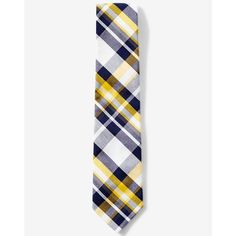 Express Narrow Navy And Cotton Plaid Tie ($40) ❤ liked on Polyvore featuring men's fashion, men's accessories, men's neckwear, ties, blue, mens plaid ties, mens blue ties, mens ties, mens bow ties and mens navy tie