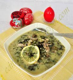 Magiritsa - görög, húsvéti salátaleves Cheeseburger Chowder, Soup, Meals, Chicken, Meal, Soups, Food, Cubs, Nutrition