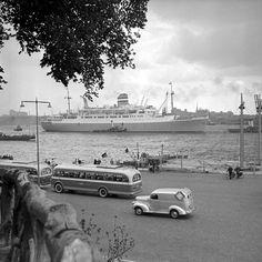 Rotterdam - Wilhelminapier vanaf Parkheuvel, 1956