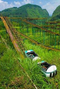 Abandoned Amusement Park reclaimed by nature