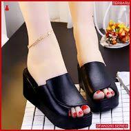 Dfan3250s35 Sepatu Hr 04 Wedges Wanita Slop Wedges Fashion