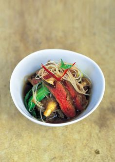 Beef with Pak Choi Mushrooms and Noodles by Jamie Oliver
