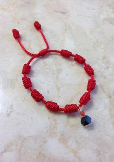 Red Bracelet For Baby Adjustable Protection GoldFilled With Azabache Original and Coral Diy Bracelets Easy, Braided Bracelets, Bracelets For Men, Fashion Bracelets, Jewelry Knots, Bracelet Knots, Red String Bracelet, Evil Eye Bracelet, Skull Jewelry