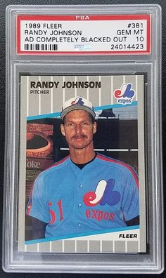 1989 Fleer Randy Johnson Rookie #381 PSA 10 Gem Mint Ad Blacked Out RC Expos HOF | Sports Mem, Cards & Fan Shop, Sports Trading Cards, Baseball Cards | eBay!