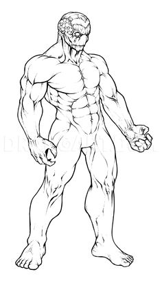 How To Draw Muscles, Step by Step, Drawing Guide, by KingTutorial | dragoart.com Human Anatomy Art, Anatomy Drawing, How To Draw Muscles, Value Drawing, Digital Art Beginner, Human Figure Drawing, Drawing Studies, Online Drawing, Anime Drawings Sketches