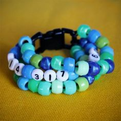Phone Number Beaded Bracelet: This bracelet can give you peace of mind in when you're traveling with your child or visiting a crowded spot. Make sure to put it on so kids can read and start to learn their phone number.