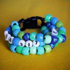 Phone Number Bead Bracelet