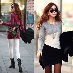 long sleeve pullover knitted women fashion sweaters