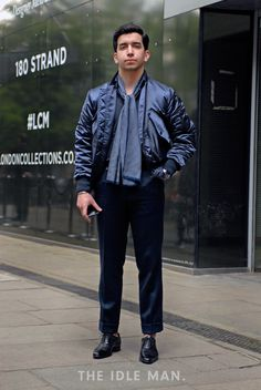 Men's Street Style | Cool Blue - The colour blocking trend might have died several seasons ago, but does a trend this cool really ever stay out of style? Here's some inspiration for you and how you can jazz up your look. | Shop the look at The Idle Man
