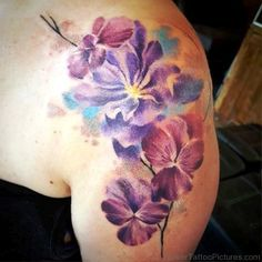 Click the picture to see the other lion tattoo collection . Larkspur Flower Tattoos, Flower Thigh Tattoos, Elbow Tattoos, Sleeve Tattoos, Aster Tattoo, Colorado Tattoo, Breast Cancer Tattoos, Mastectomy Tattoo, Tattoo Now