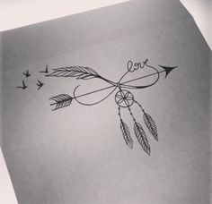 Arrow/Infinity/Dream Catcher/Birds Tattoo: