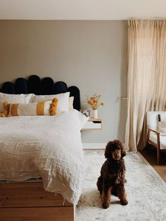 This Renovated Brooklyn Apartment Has the Most Gorgeous DIY Kitchen Tile Floor Ikea Platform Bed, Kitchen Tile Diy, Tile Floor Diy, Uo Home, Brooklyn Apartment, One Bedroom, Furniture Decor, Home Goods, Flooring