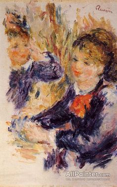 Pierre Auguste Renoir At The Milliner's (study) oil painting reproductions for sale