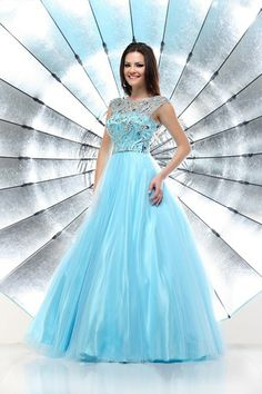 A fabulous pale blue ball gown by Sparkle.