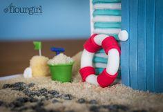 British Seaside Beach Hut Cake - Lifesaver