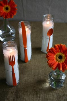 Flatware Candles | Family Chic by Camilla Fabbri ©2009-2012. All rights reserved. The blog