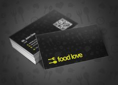 I just released Food Love Business Cards on Creative Market.