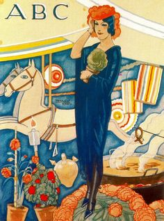 By Rafael de Penagos (1889-1954), 1 9 3 2. He was a Spanish painter and he was the creator of the Spanish Art Deco illustration.