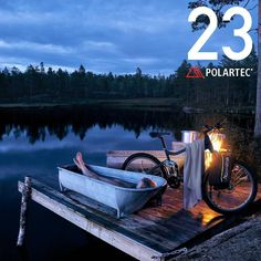 Only 1 day left time to take a hot bath and enjoy the sunset before Christmas Eve. How many of you hope to find a Falketind Gore-Tex jacket under the tree tomorrow? Comment I do below for your chance to win one today.  @polartecfabric #norronaholidaycountdown  Photo: @chrisholter by norrona