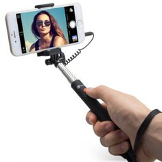 TaoTronics Selfie Stick Telescopic Monopod for Android and iOS Smartphones, One Button Shutter/Remote, Universal Connector, No Power/Battery Required (Black) 25th Birthday Gifts, Birthday Gifts For Sister, Galaxy S8, Samsung Galaxy, Super Strong Magnets, Smartphone Reviews, Plus 8, Selfie Stick, Phone Holder