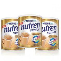 NUTREN SENIOR Café com Leite Suplemento Alimentar c/ 3 Latas de 370g Cada - Farma Delivery