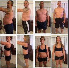 Richard  and Jordyn with their 30 day results!!!  Awesome!!